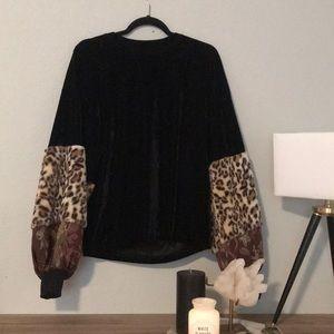 ZARA | Velvet Oversized Sweater